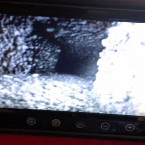 Chimney camera inspection, before